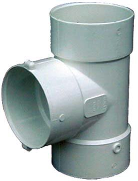 4 PVC Bull Nose Tee by GenovaProducts
