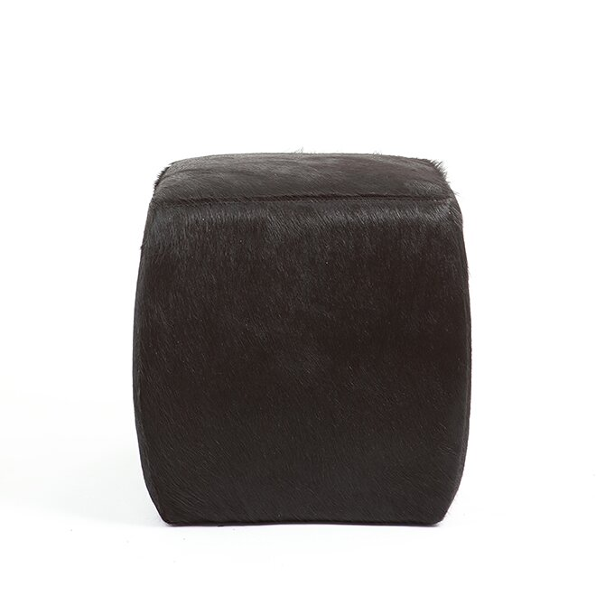 Foundry Select Cobb Leather Pouf Wayfair Mesmerizing Urban Foundry Pouf