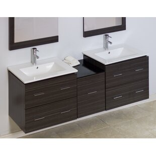 Reviews Modern 60 Double Vanity Base Only By American Imaginations
