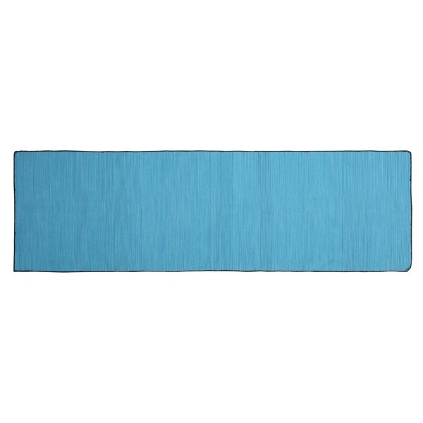 One-of-a-Kind Alonzo Hand-woven Cotton Blue Area Rug by Highland Dunes