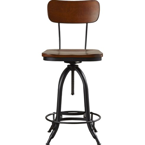 Fennimore Adjustable Height Swivel Bar Stool