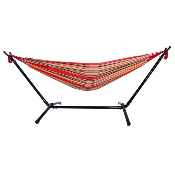 Harrietta Portable Polyester Camping Hammock with Stand by Highland Dunes