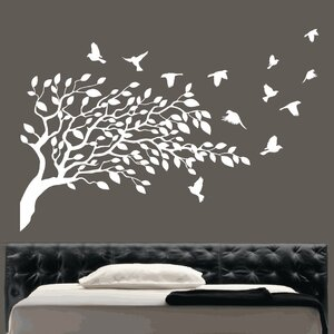 Flying Birds and Tree Wall Sticker