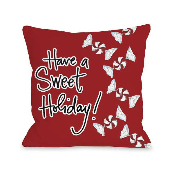 Sweet Holiday Throw Pillow by One Bella Casa