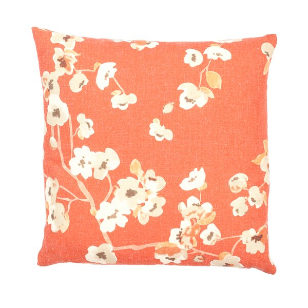 Vincennes Sakura Floral Print Indoor Throw Pillow by Alcott Hill