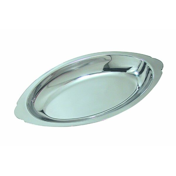 Oval Au Gratin Stainless Steel 15 oz Baking Dish by CROWN BRANDS