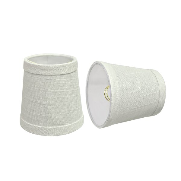 4 H Linen Empire Lamp shade ( Clip on ) in Off White (Set of 2)