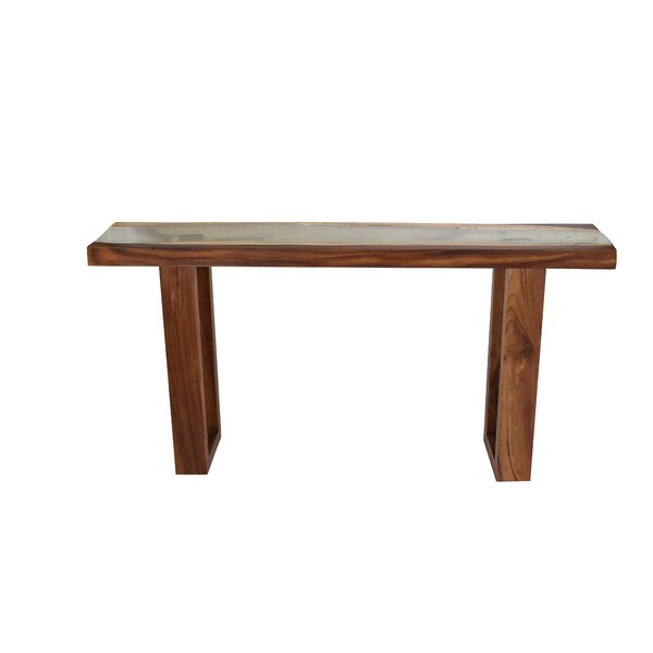 Review Michaela Live Edge Console Table