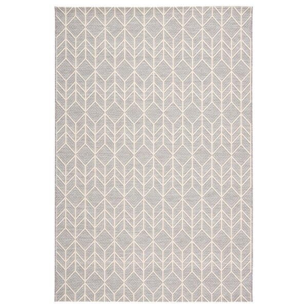 Varennes Chevron Gray/Beige Indoor/Outdoor Area Rug by Bungalow Rose