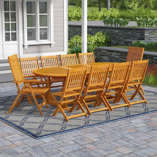 Cadsden 11 Piece Expandable Dining Set by Three Posts