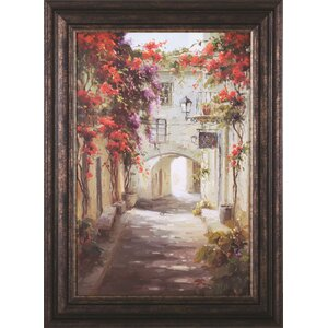 'Bougainvillea' Framed Painting Print by Darby Home Co