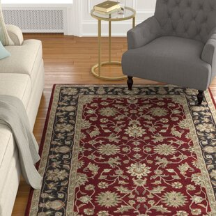 Markeley Hand-Tufted Wool Garnet Area Rug by Charlton Home