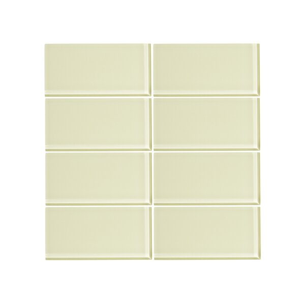 3 x 6 Glass Subway Tile in Lime Sorbet by Vicci Design
