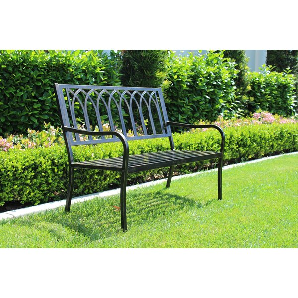 Caldwell Aluminum Park Bench by Gracie Oaks