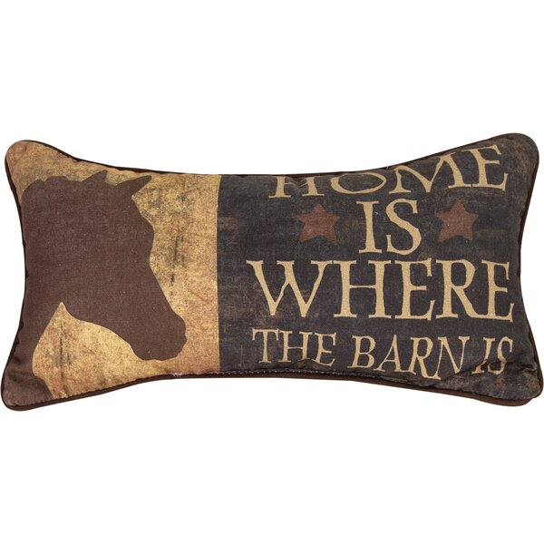 Home is Where the Barn is Cotton Lumbar Pillow by Manual Woodworkers & Weavers