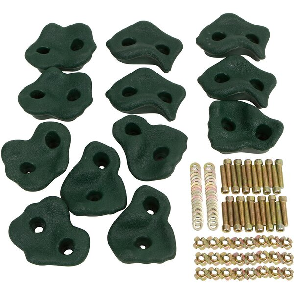Textured Rock Hold (Set of 12) by Swing Set Stuff