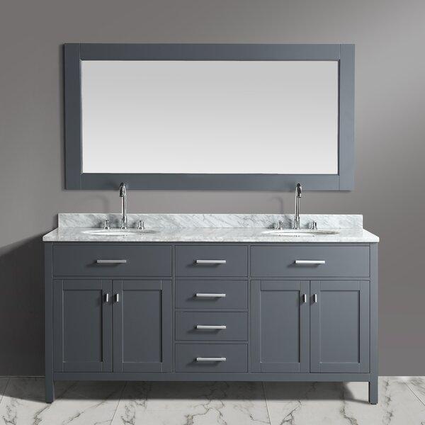London Stanmark 72 Double Bathroom Vanity Set with Mirror