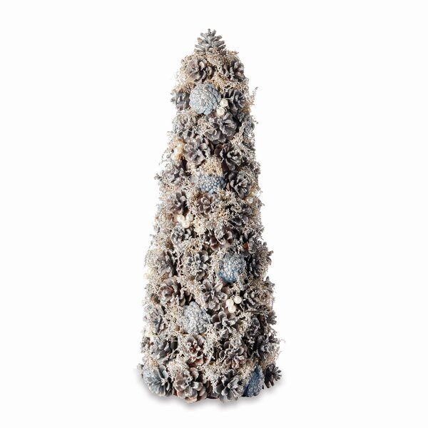 Pine Cone and Pearl Desktop Topiary (Set of 2) by The Holiday Aisle