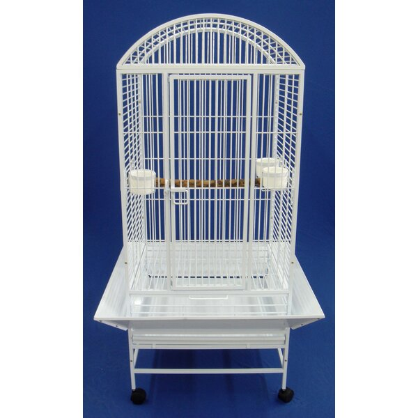 Narrow Dome Top Parrot Bird Cage by YML