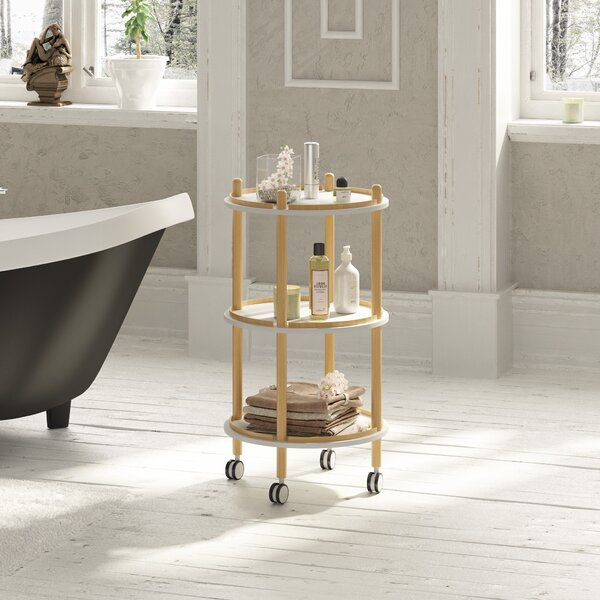 Rhythm 15.75 W x 31.5 H x 15.75 D Free-Standing Bathroom Shelves