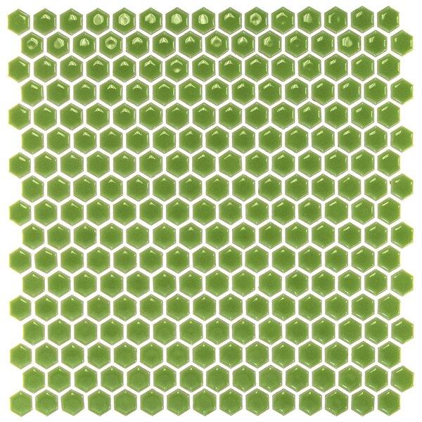 Bliss 0.6 x 0.6 Ceramic Mosaic Tile in Sage by Splashback Tile