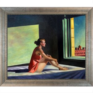 Morning Sun, 1952 by Edward Hopper Framed Painting Print by Tori Home