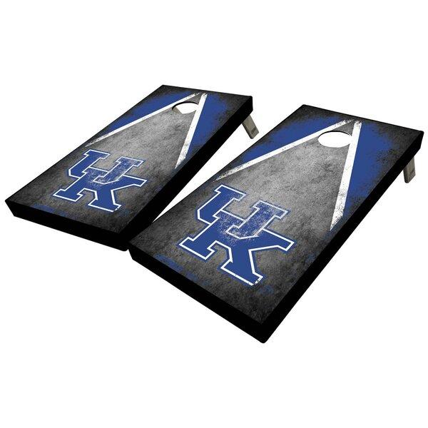 University of Kentucky Distressed Triangle 10 Piece Cornhole Set by West Georgia Cornhole