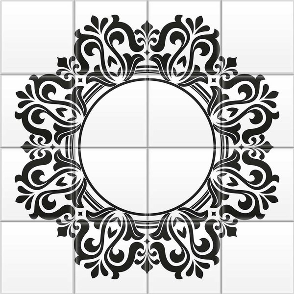 2 x 2 Glass Decorative Mural Tile in Black by Upscale Designs by EMA