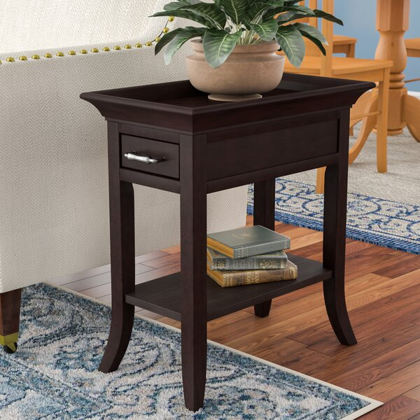 Clermont Tray Edge End Table With Storage By Charlton Home