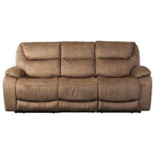 Alcazar Leather 3 Seater Reclining Sofa ...