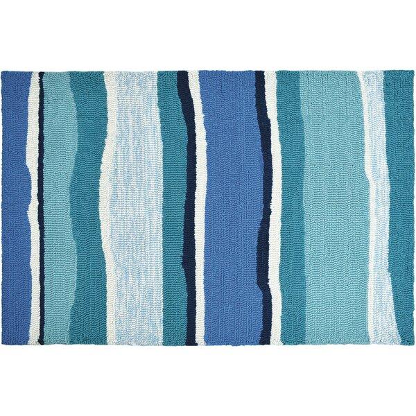 Dao Sea Breeze Blues Hand-Woven Blue Indoor/Outdoor Area Rug by Highland Dunes