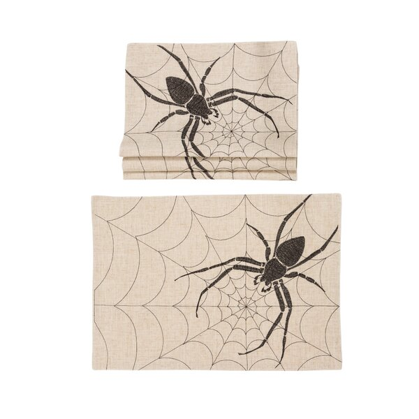 Errol Halloween Creepy Spiders 14 Placemat (Set of 4) by The Holiday Aisle