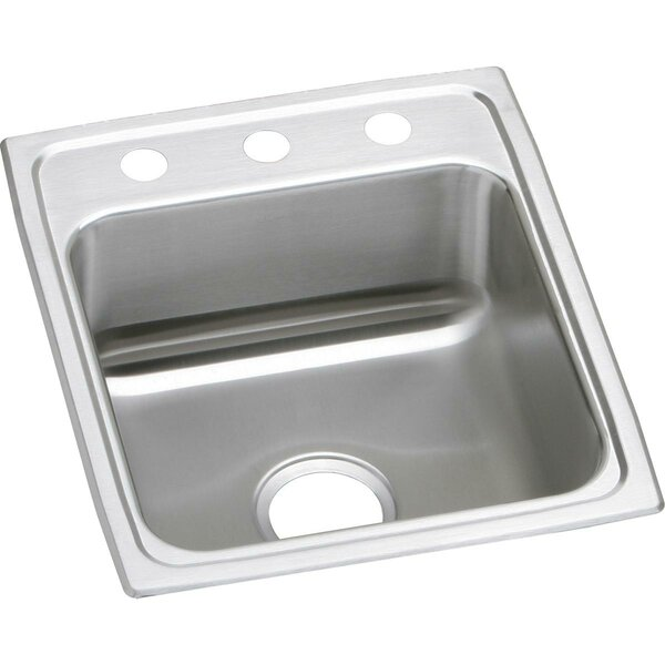 Lustertone 17L x 20W Drop-In Kitchen Sink by Elkay