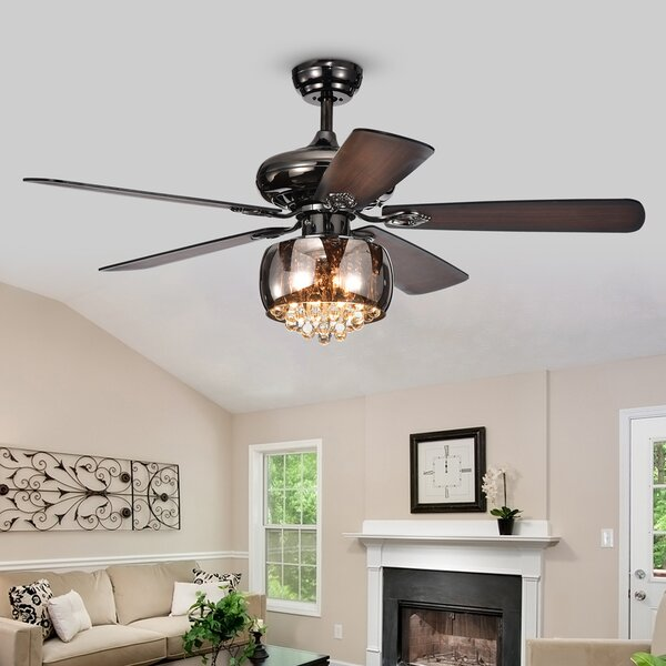 52 Lakey 5 Blade Ceiling Fan with Remote by House of Hampton