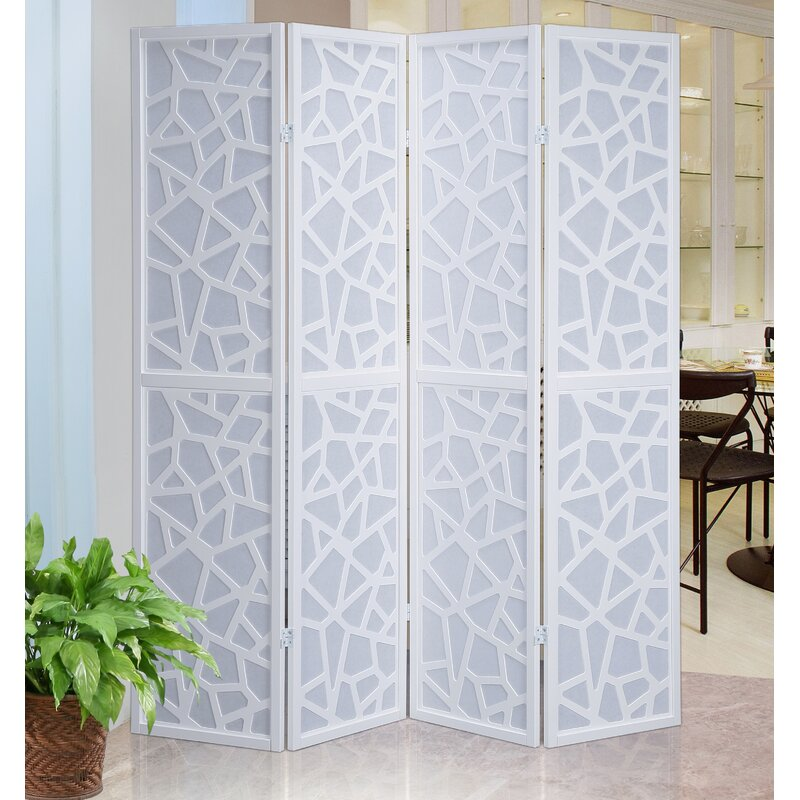 Giyano Screen 4 Panel Room Divider Reviews AllModern