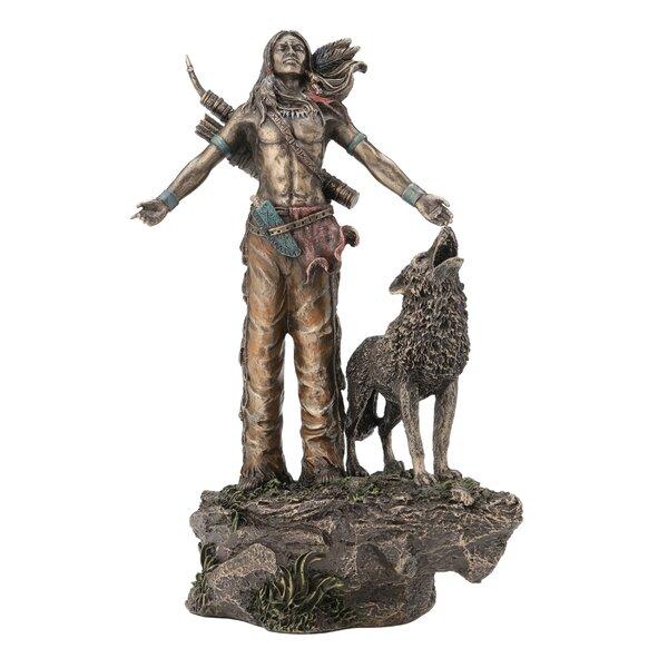 Neese Native American Warrior Praying Figurine by Loon Peak