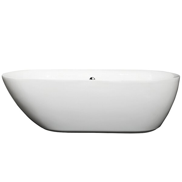 Melissa 70.75 x 32.5 Soaking Bathtub by Wyndham Collection