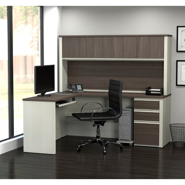 Bormann L-Shape Executive Desk with Hutch by Red Barrel Studio
