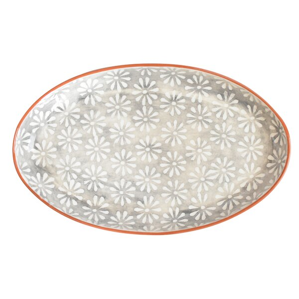 Hollie Hand-Painted Coupe Platter by Mistana