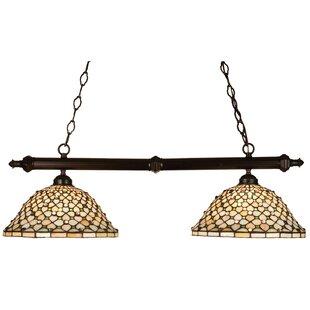 Check Prices Tiffany Diamond and Jewel 2-Light Pool Table Light By Meyda Tiffany