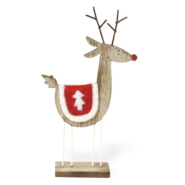 Birch Deer Tree Blanket Figurine (Set of 3) by The Holiday Aisle