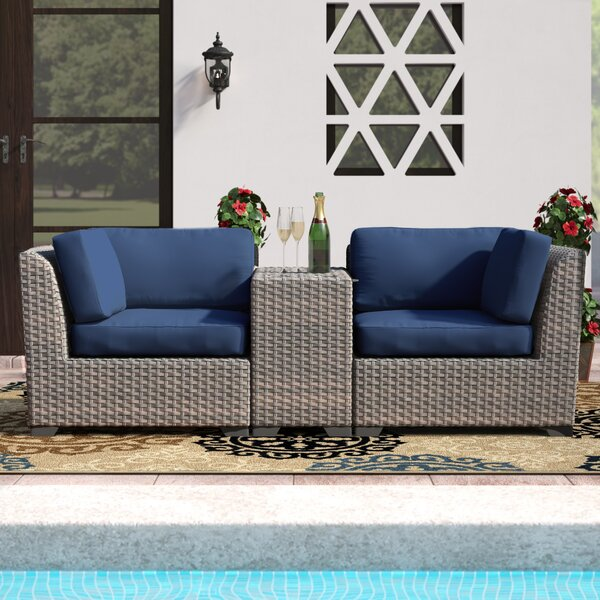 Merlyn 3 Piece Seating Group with Cushions by Sol 72 Outdoor