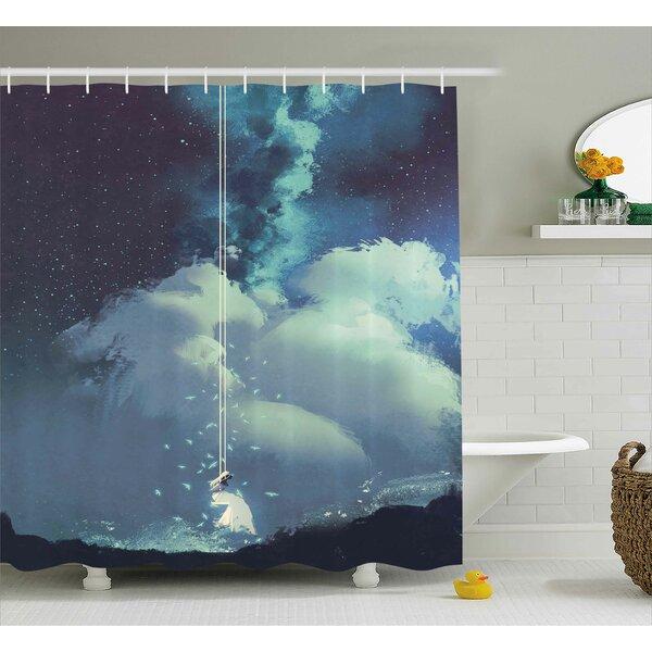 Etta Christmas Handmade Xmas Balls Italian Tradition Symbolic Noel Time Yule Design Shower Curtain by Ebern Designs
