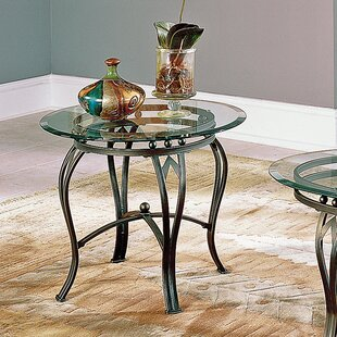 Madrid End Table Glass Top Steve Silver Furniture