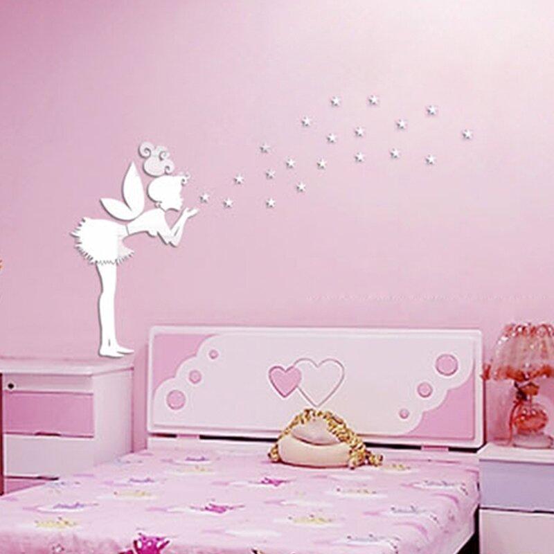Walplus Tinker Bell Girl Mirror Wall Art Wall Decal & Reviews | Wayfair