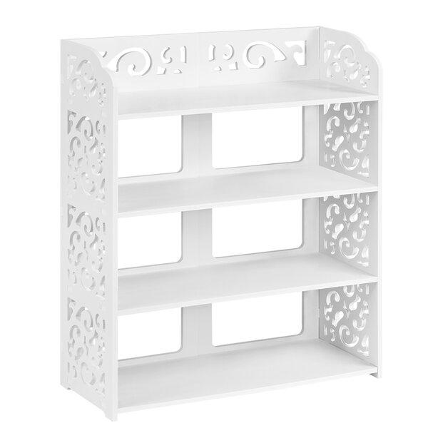 Zullo 3-Tier Modular Sakura Cut-Out Wood Plastic Composite Shelf Unit Storage Standard Bookcase by House of Hampton