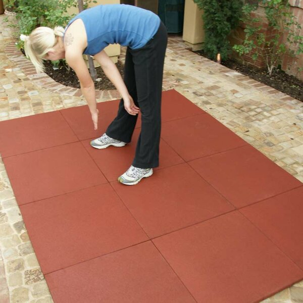 Eco-Sport Interlocking Flooring Rubber Tile (Set of 18) by Rubber-Cal, Inc.