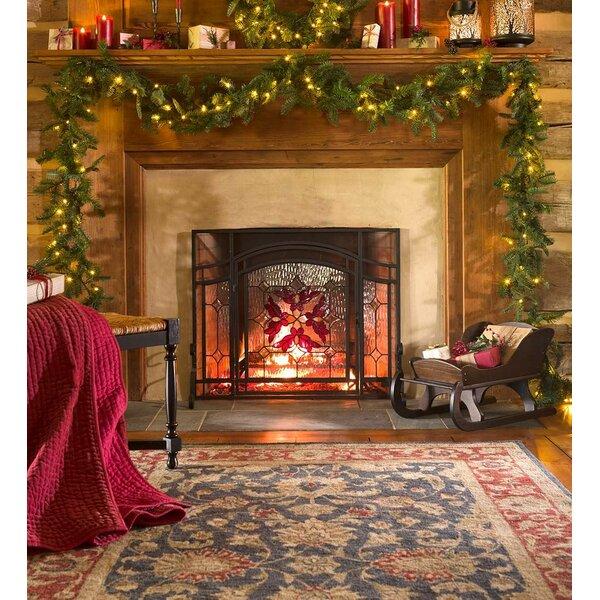 Nordmann Fir Christmas Garland with Light by Plow & Hearth