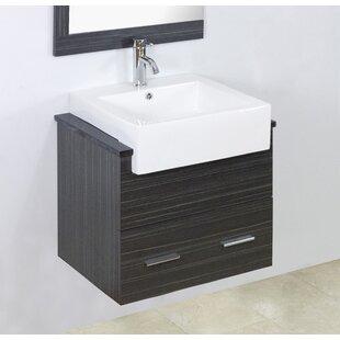 Shop For Mulberry Wall Mount 23 Single Bathroom Vanity Set ByRoyal Purple Bath Kitchen