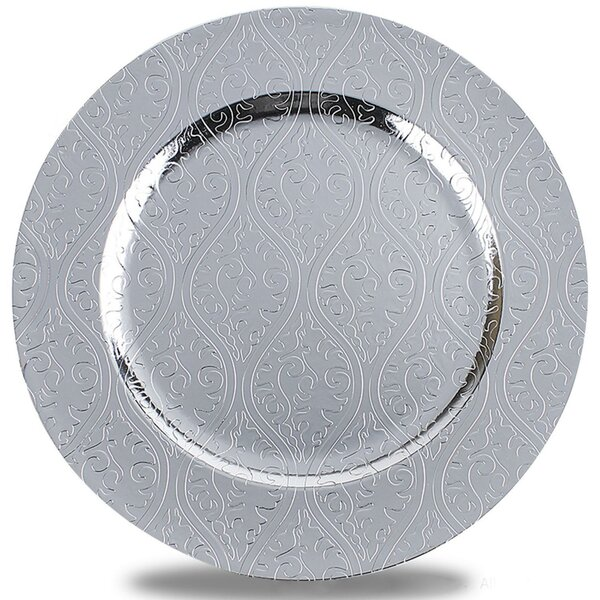 Plath Pattern Round Charger Plate by Bloomsbury Market